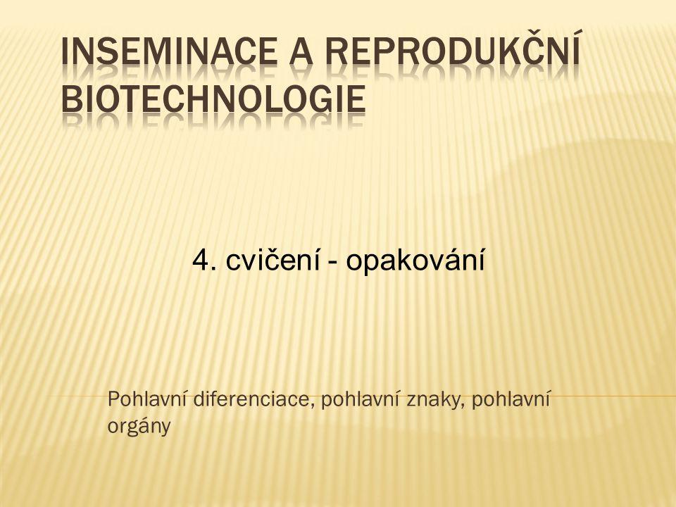 Inseminace a reprodukční biotechnologie