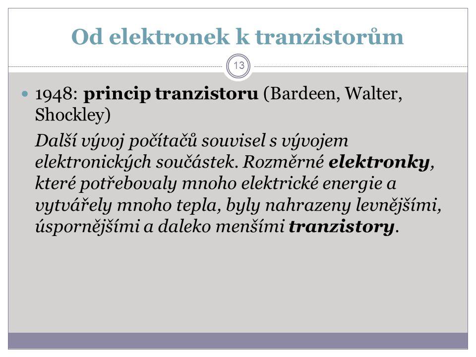 Od elektronek k tranzistorům