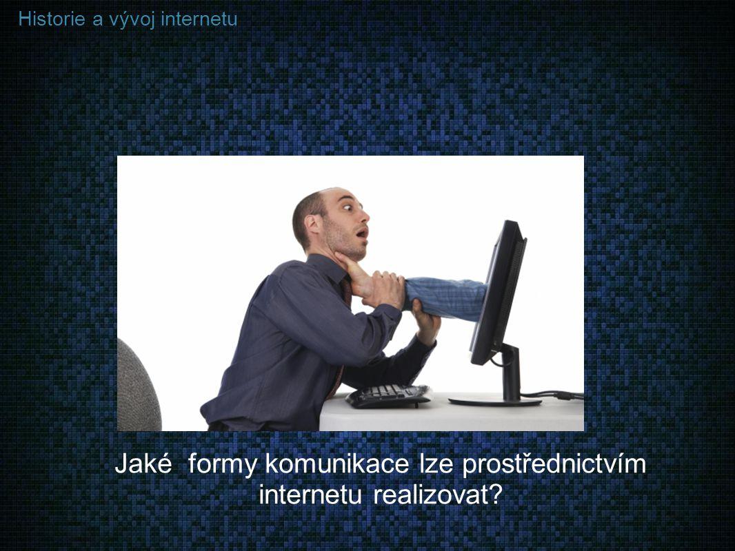 Jaké formy komunikace lze prostřednictvím internetu realizovat
