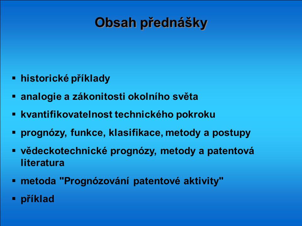Obsah přednášky historické příklady
