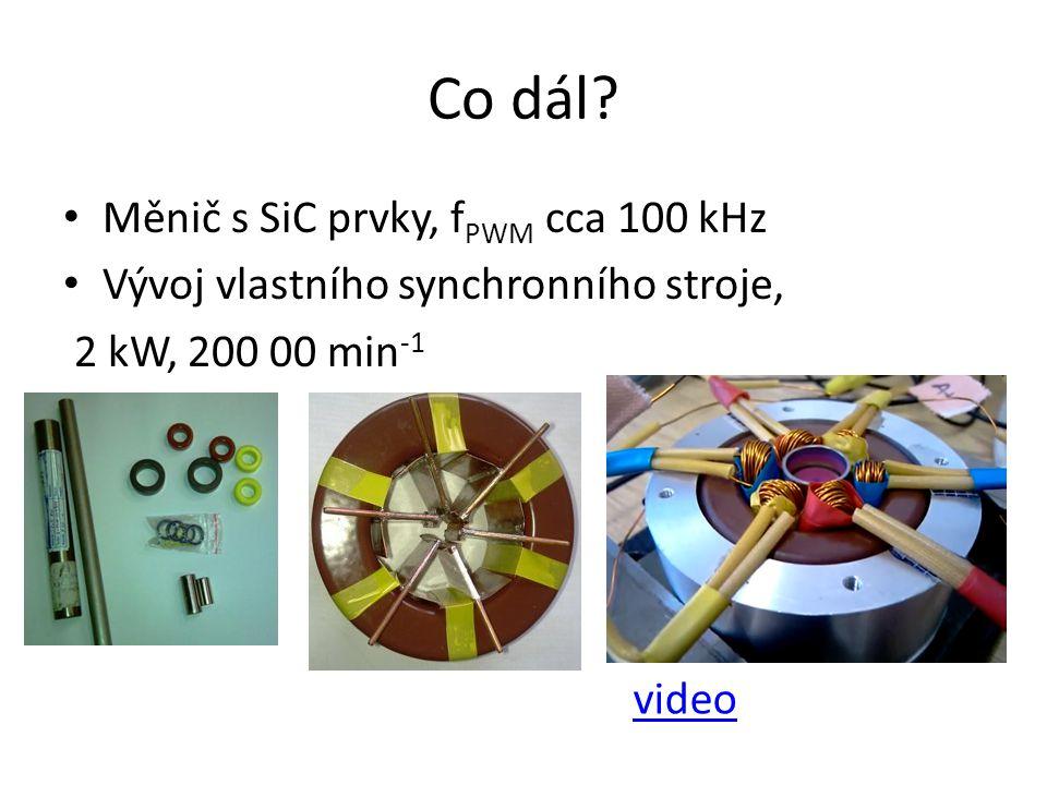 Co dál Měnič s SiC prvky, fPWM cca 100 kHz