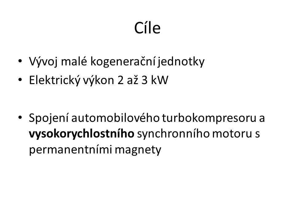 Cíle Vývoj malé kogenerační jednotky Elektrický výkon 2 až 3 kW