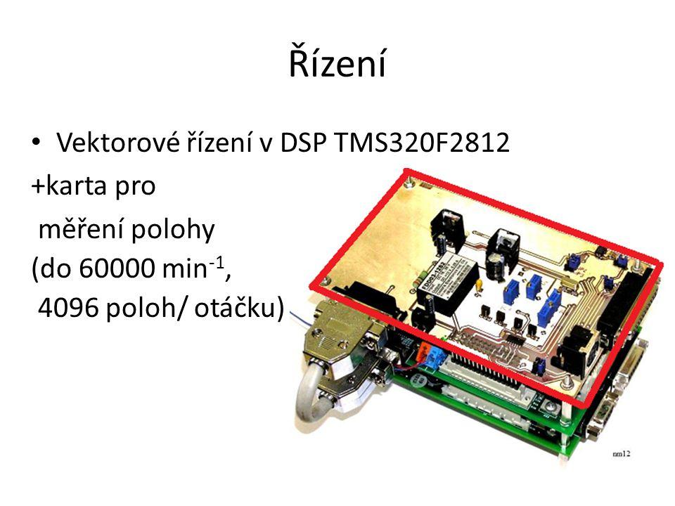 Řízení Vektorové řízení v DSP TMS320F2812 +karta pro měření polohy