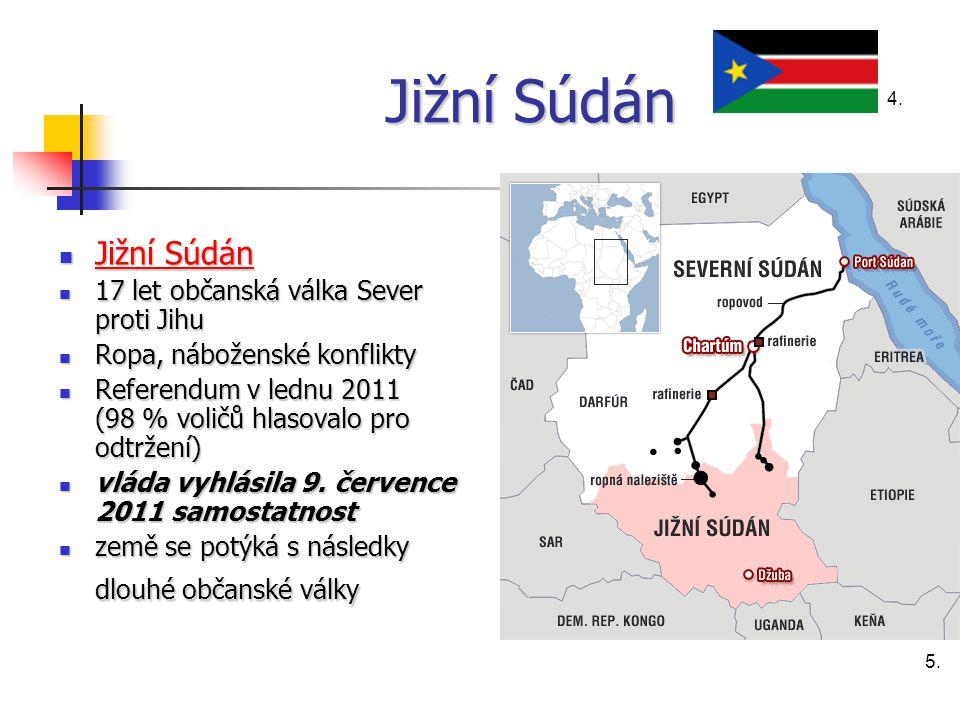 Jižní Súdán Jižní Súdán 17 let občanská válka Sever proti Jihu