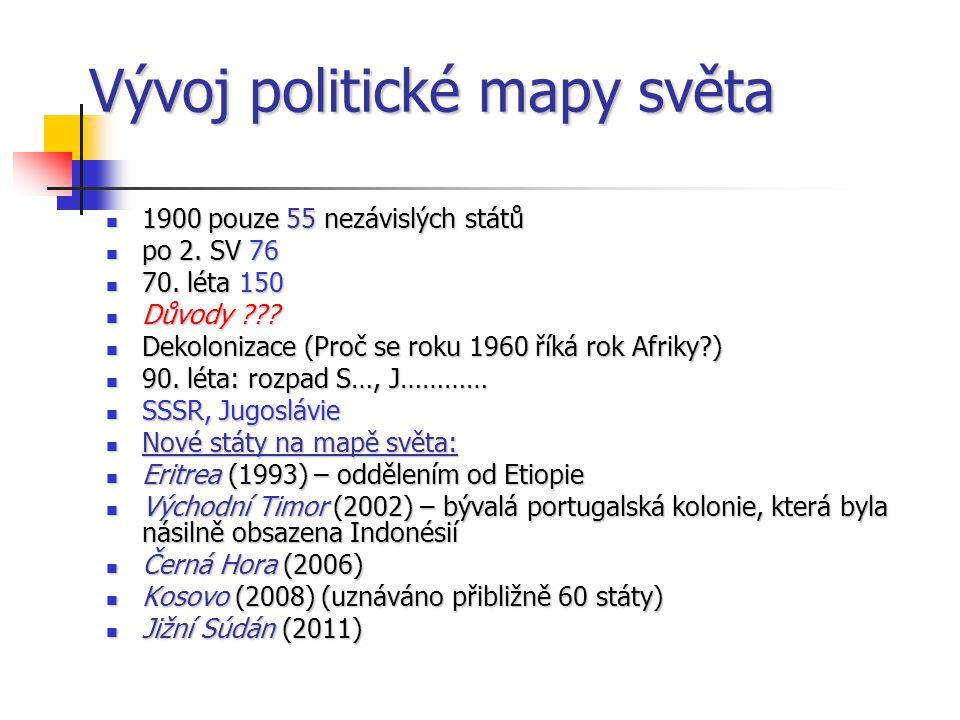Vývoj politické mapy světa