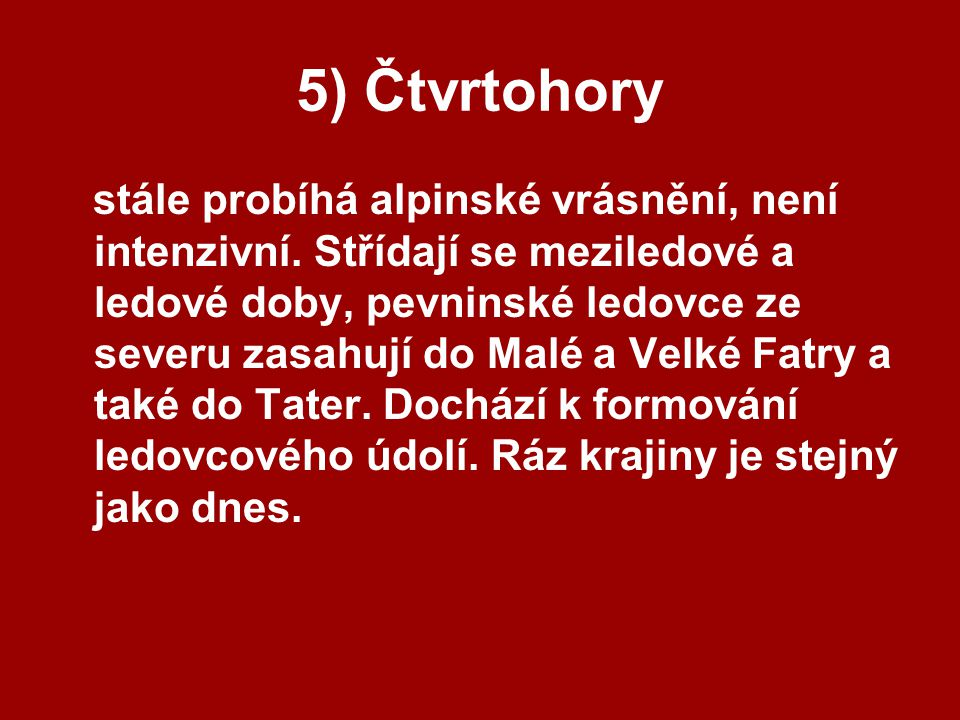 5) Čtvrtohory