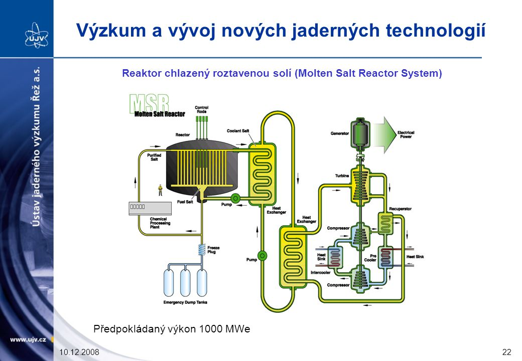 Reaktor chlazený roztavenou solí (Molten Salt Reactor System)