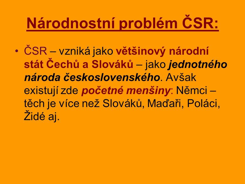 Národnostní problém ČSR: