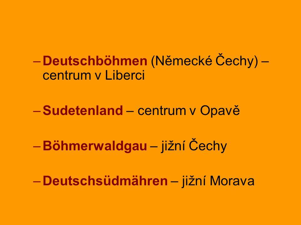 Deutschböhmen (Německé Čechy) – centrum v Liberci