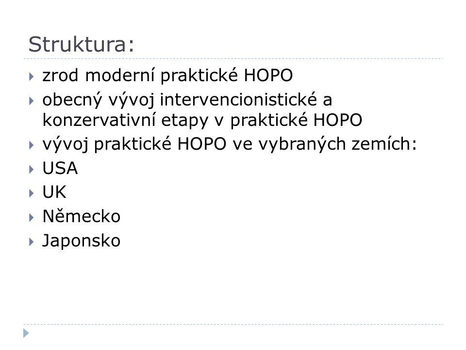 Struktura: zrod moderní praktické HOPO