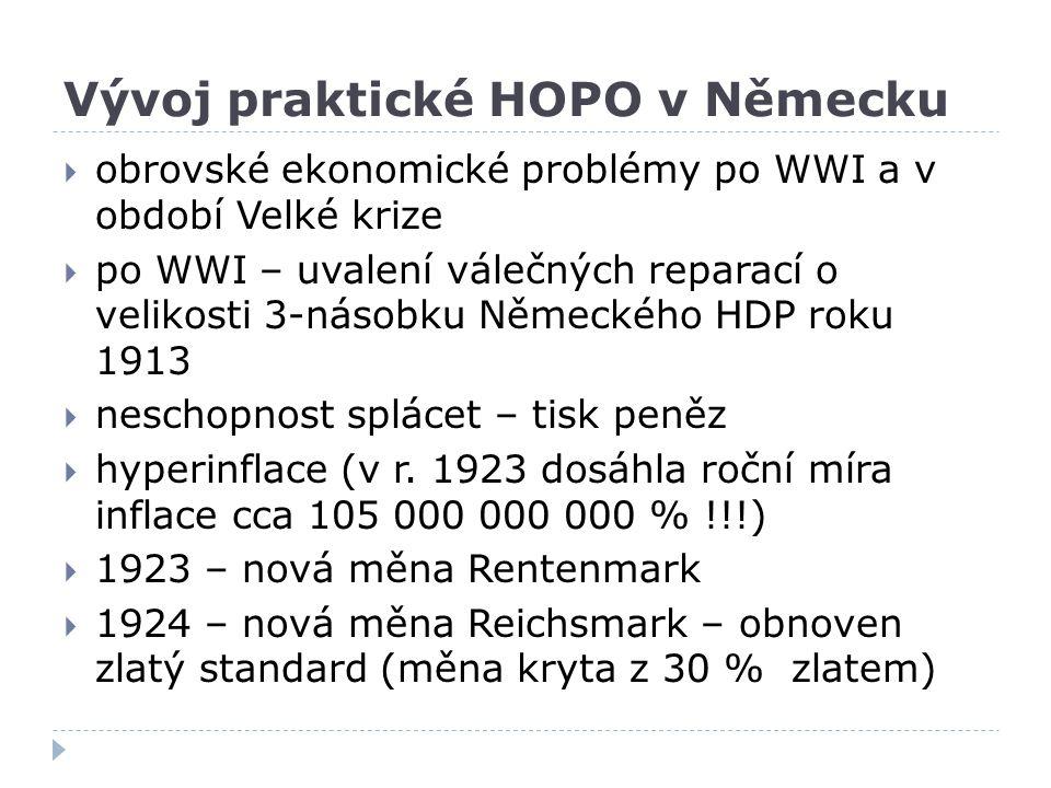 Vývoj praktické HOPO v Německu