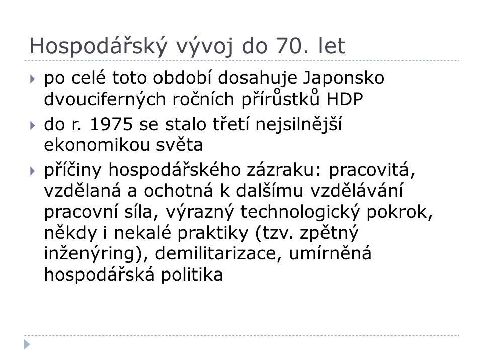 Hospodářský vývoj do 70. let