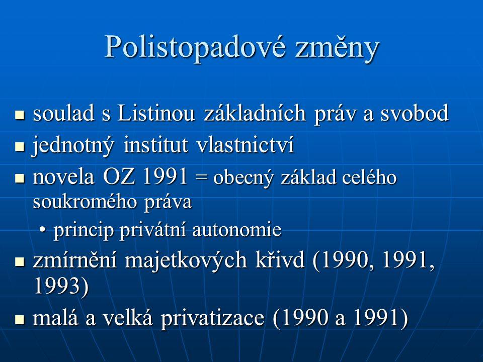 Polistopadové změny soulad s Listinou základních práv a svobod