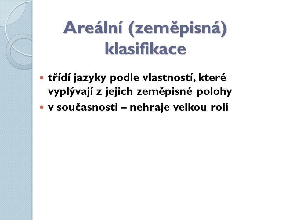 Areální (zeměpisná) klasifikace