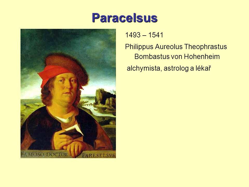 Paracelsus 1493 – 1541. Philippus Aureolus Theophrastus Bombastus von Hohenheim.
