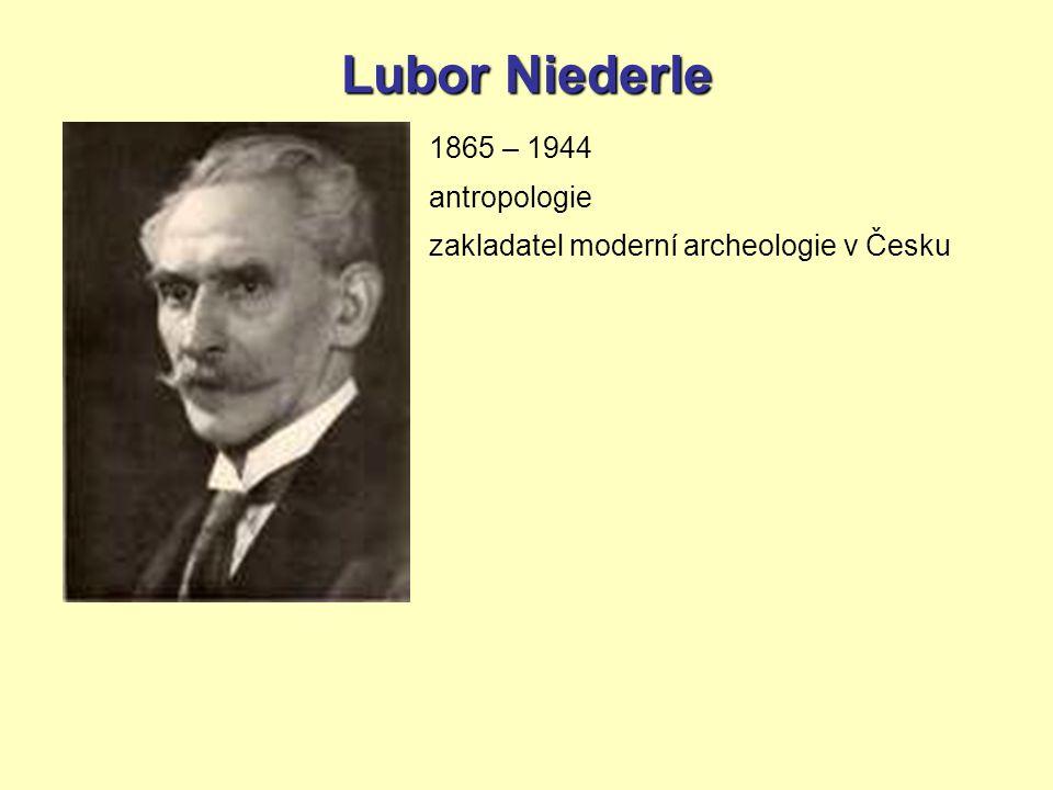 Lubor Niederle 1865 – 1944 antropologie