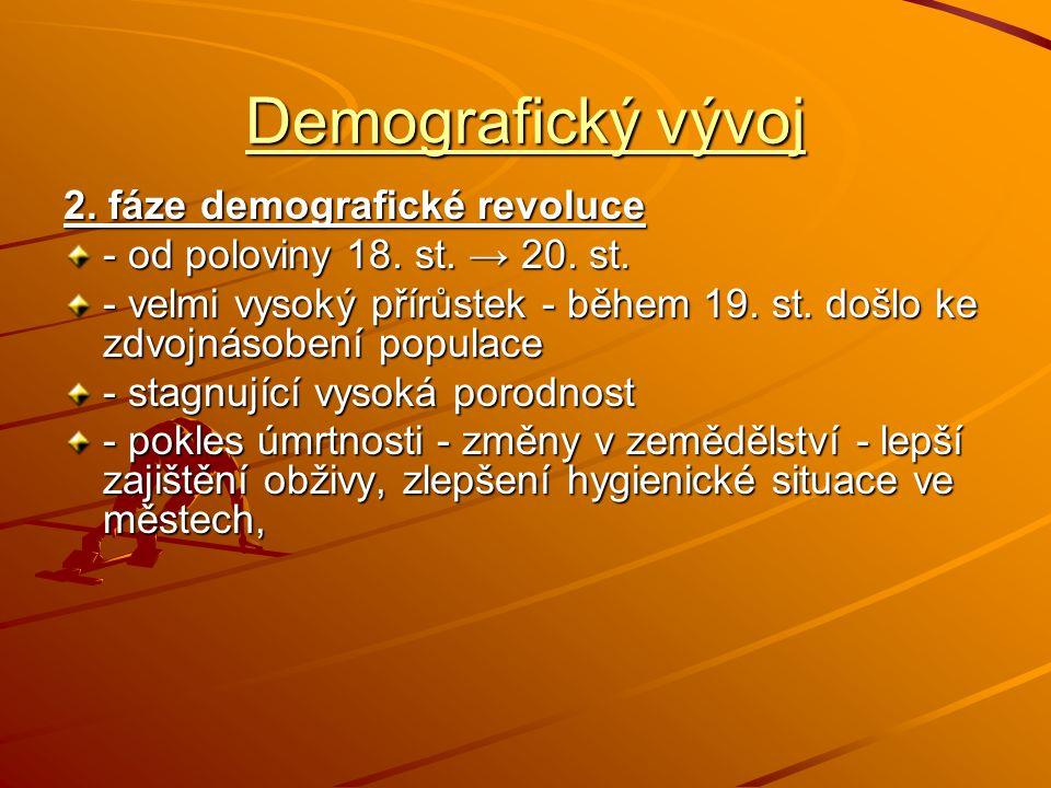 Demografický vývoj 2. fáze demografické revoluce