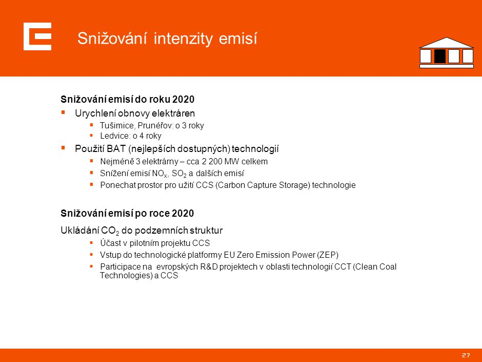 Podpora úspor energie v ČR