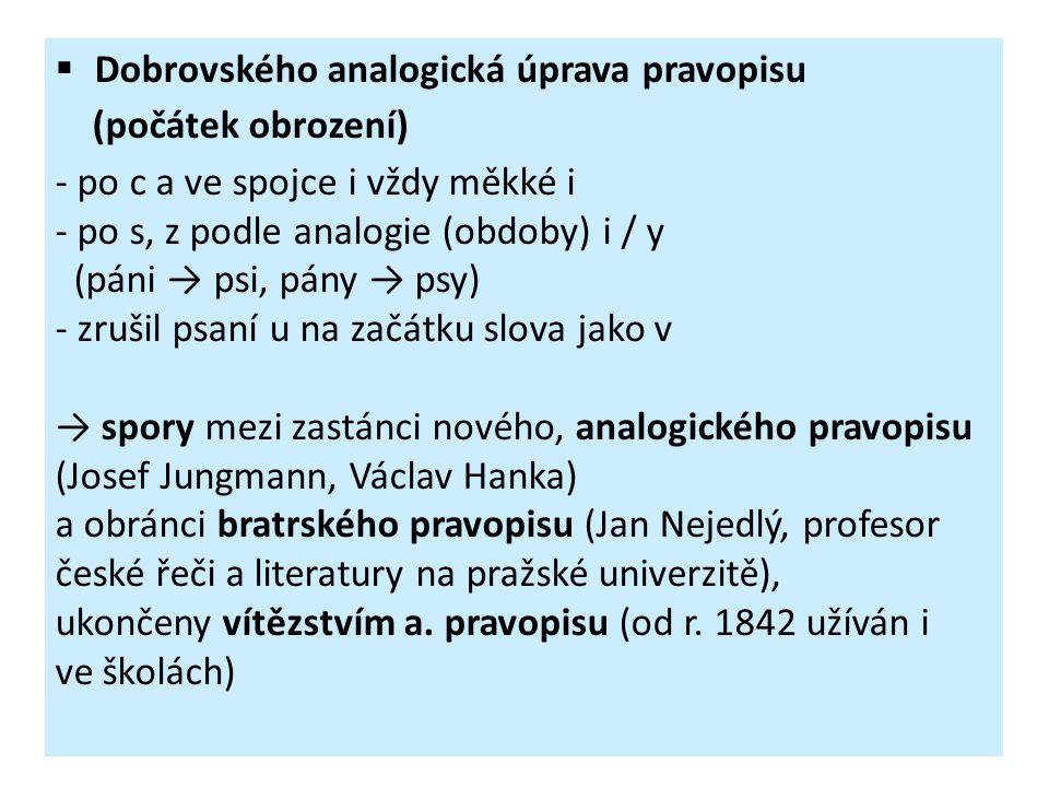 Dobrovského analogická úprava pravopisu