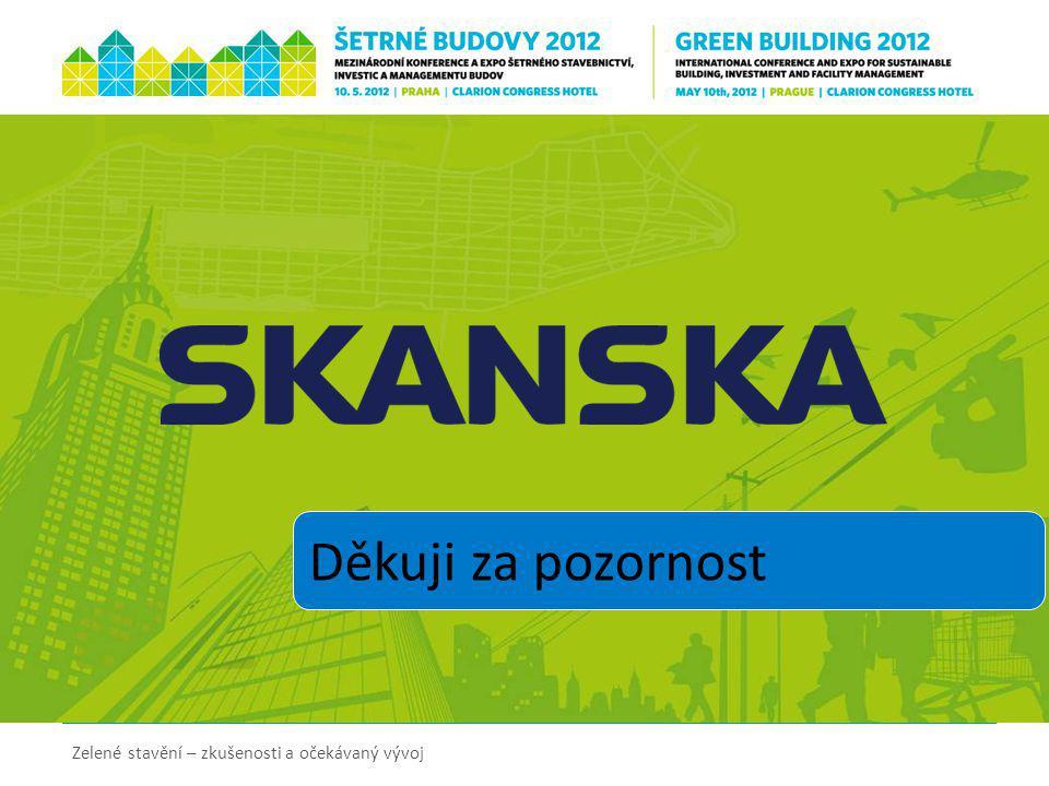 Děkuji za pozornost Zelené stavění – zkušenosti a očekávaný vývoj