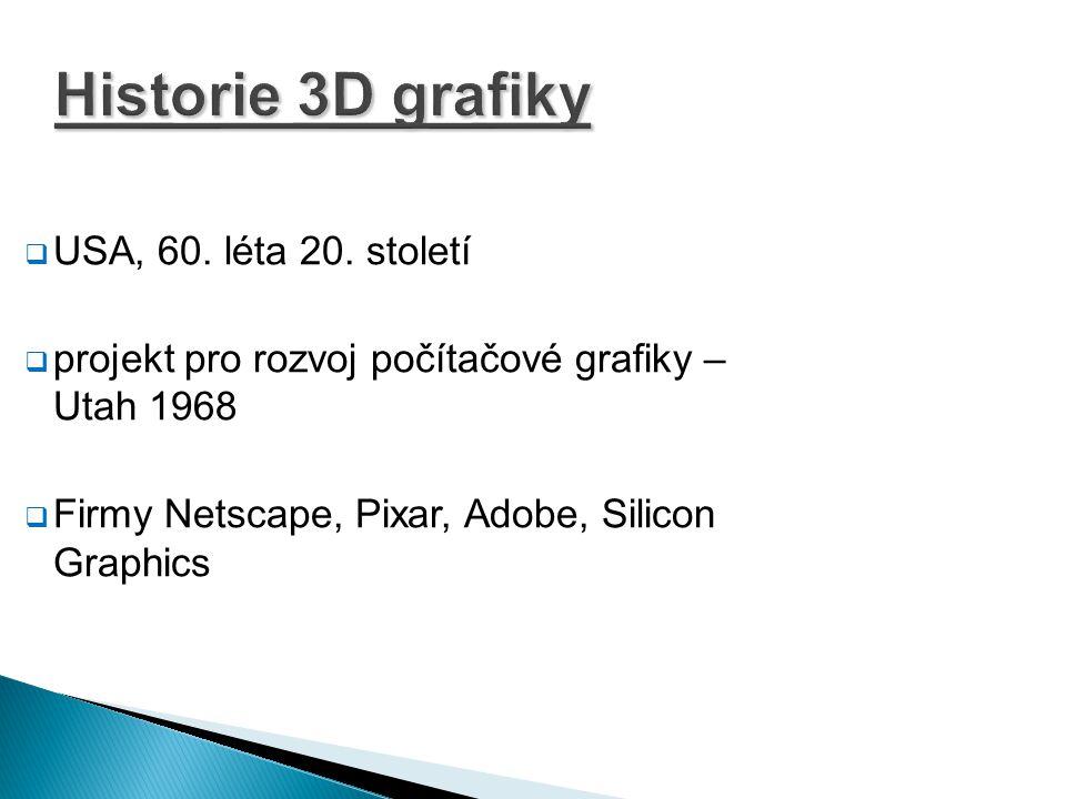 Historie 3D grafiky USA, 60. léta 20. století
