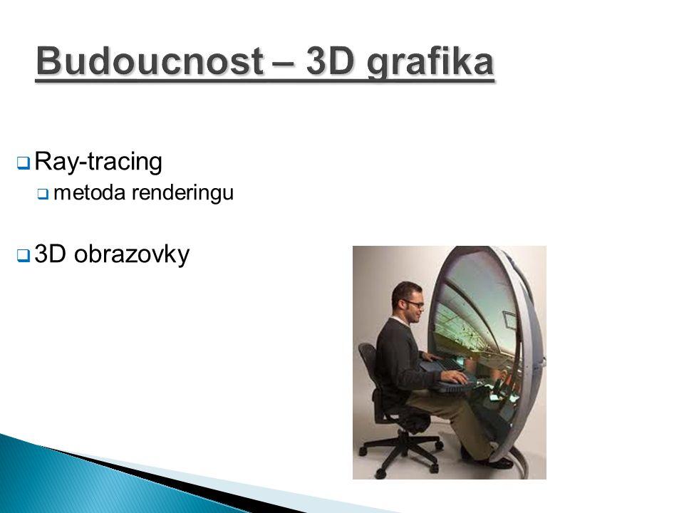 Budoucnost – 3D grafika Ray-tracing metoda renderingu 3D obrazovky