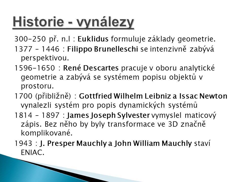 Historie - vynálezy
