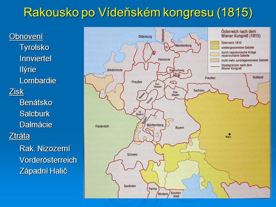 Rakousko po Vídeňském kongresu (1815)
