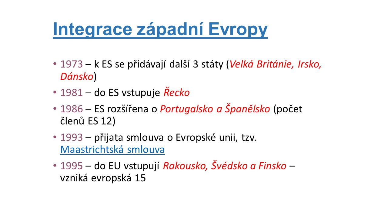 Integrace západní Evropy