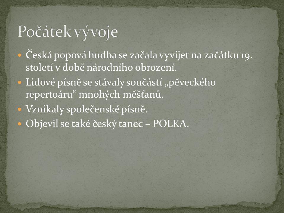 Počátek vývoje Česká popová hudba se začala vyvíjet na začátku 19. století v době národního obrození.