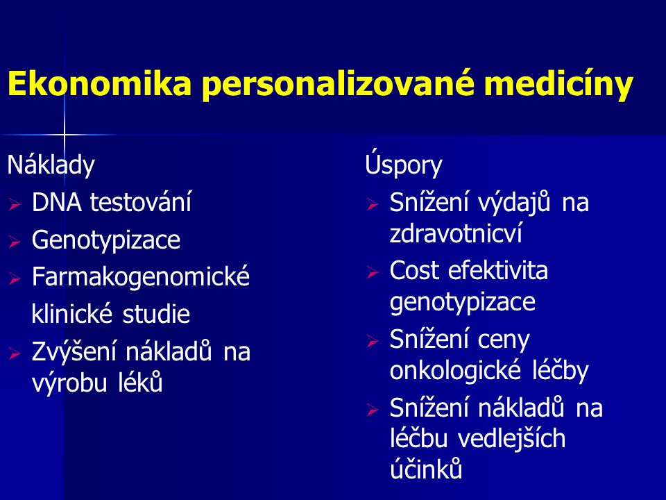Ekonomika personalizované medicíny