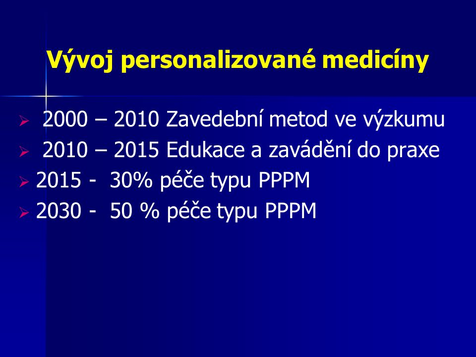 Vývoj personalizované medicíny