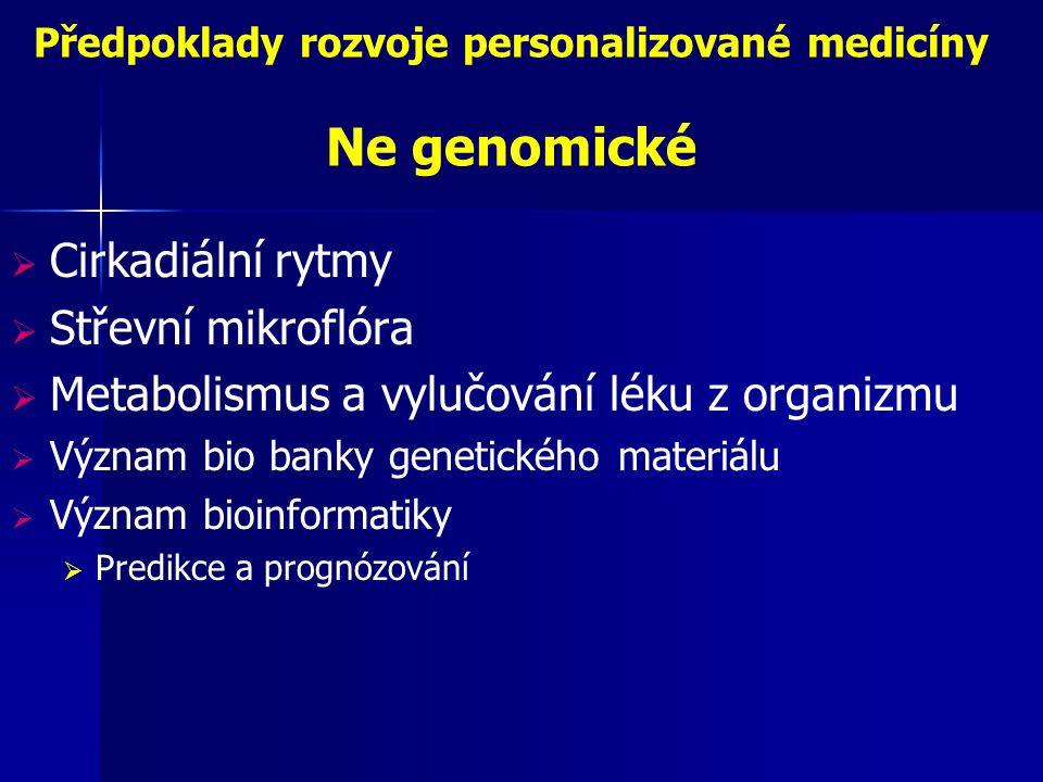 Předpoklady rozvoje personalizované medicíny Ne genomické