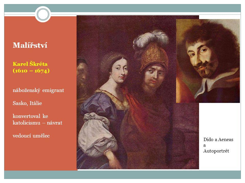 Malířství Karel Škréta (1610 – 1674) náboženský emigrant Sasko, Itálie