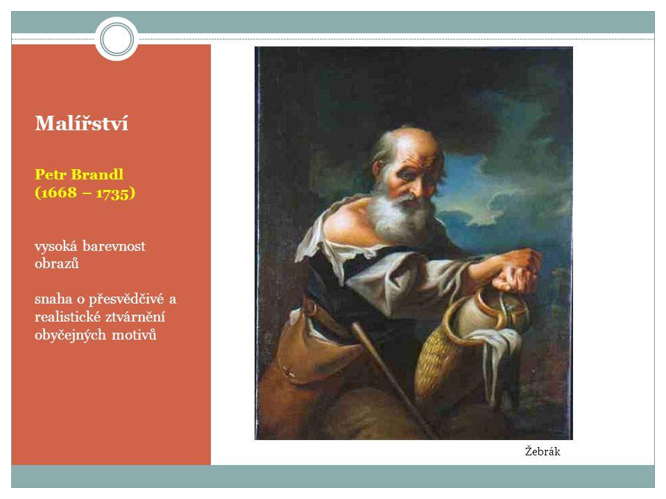 Malířství Petr Brandl (1668 – 1735) vysoká barevnost obrazů