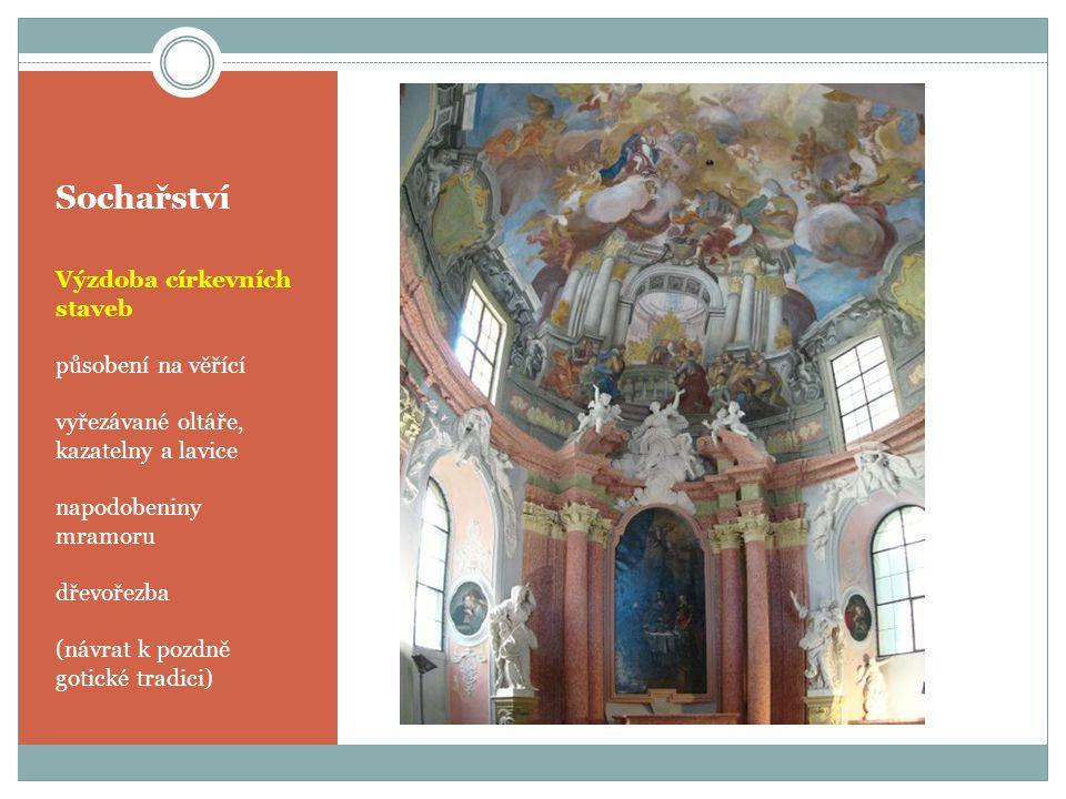 Sochařství Výzdoba církevních staveb působení na věřící