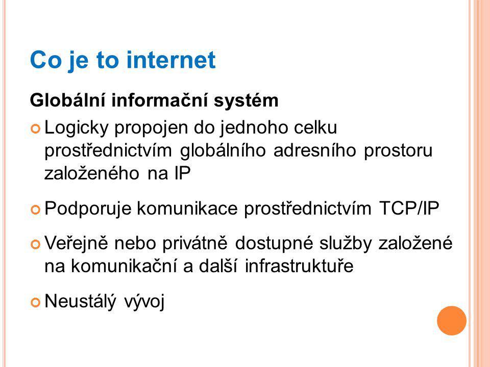 Co je to internet Globální informační systém