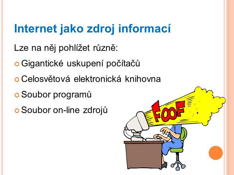 Internet jako zdroj informací