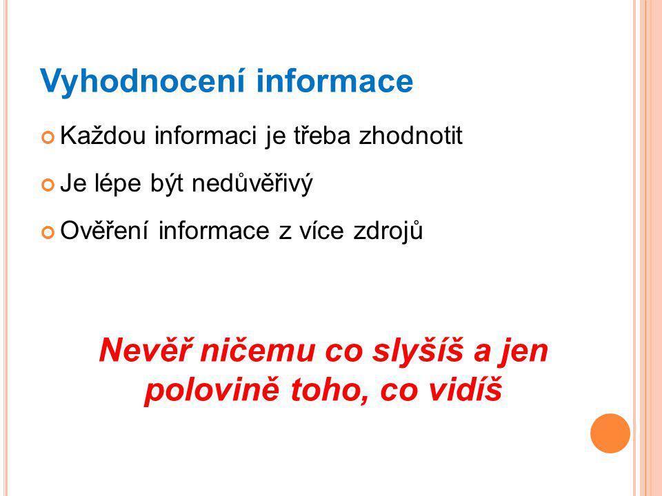 Vyhodnocení informace