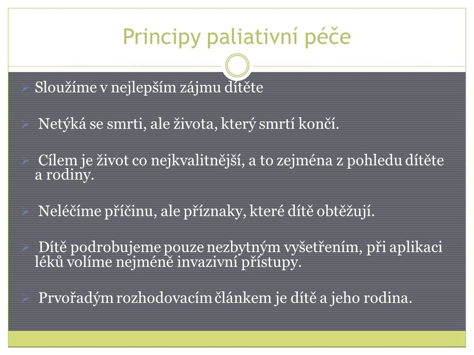 Principy paliativní péče