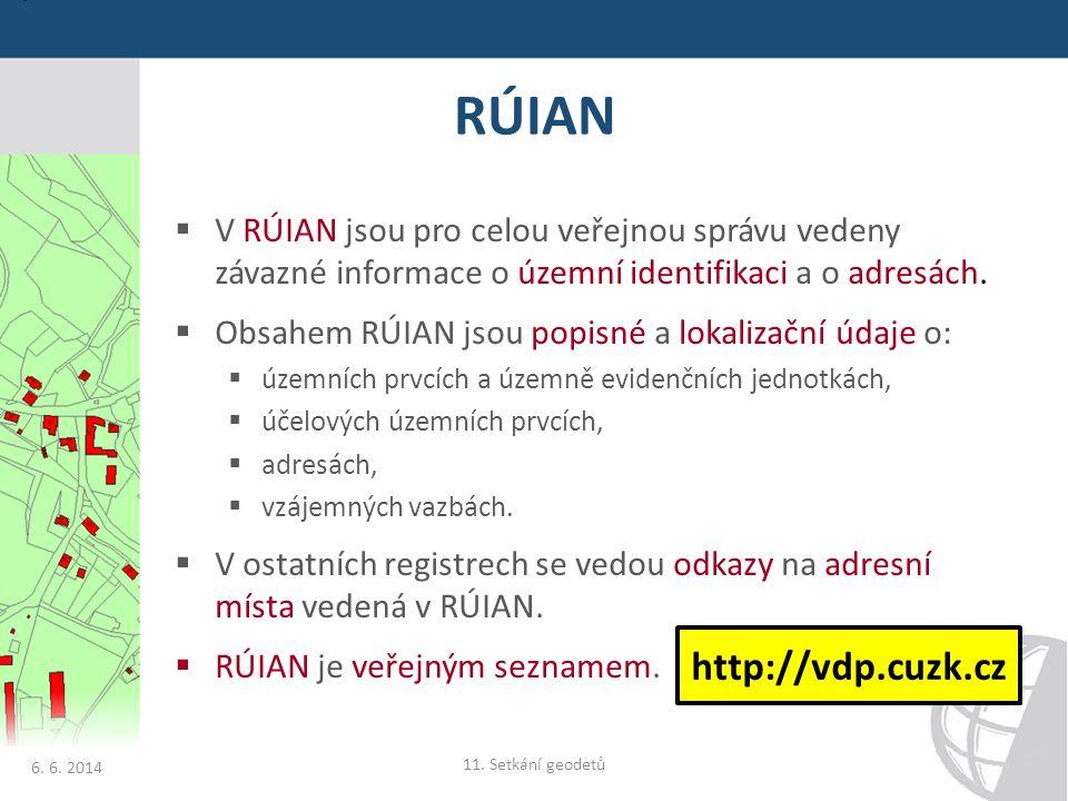 RÚIAN http://vdp.cuzk.cz
