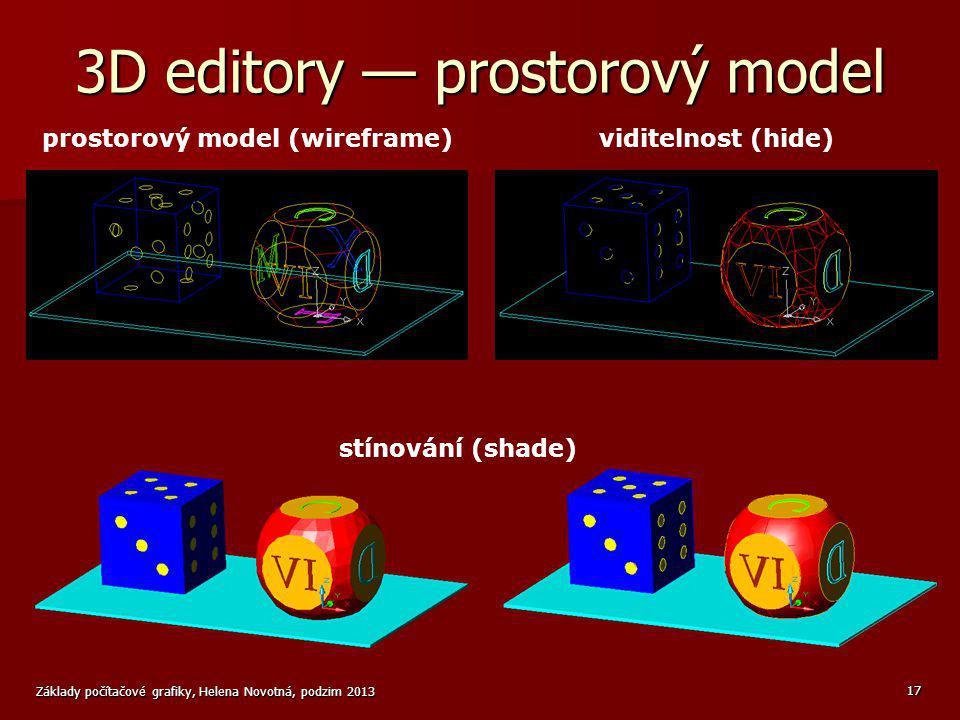 3D editory — prostorový model