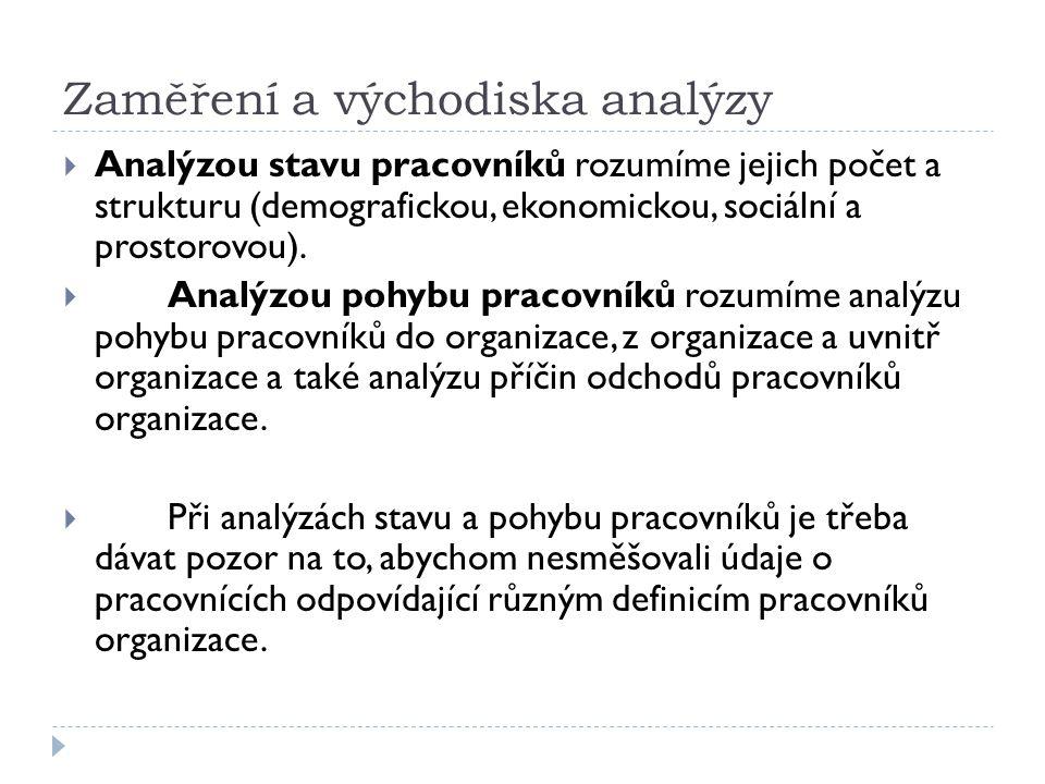 Zaměření a východiska analýzy