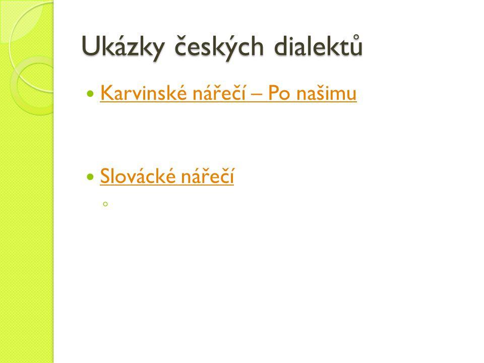 Ukázky českých dialektů
