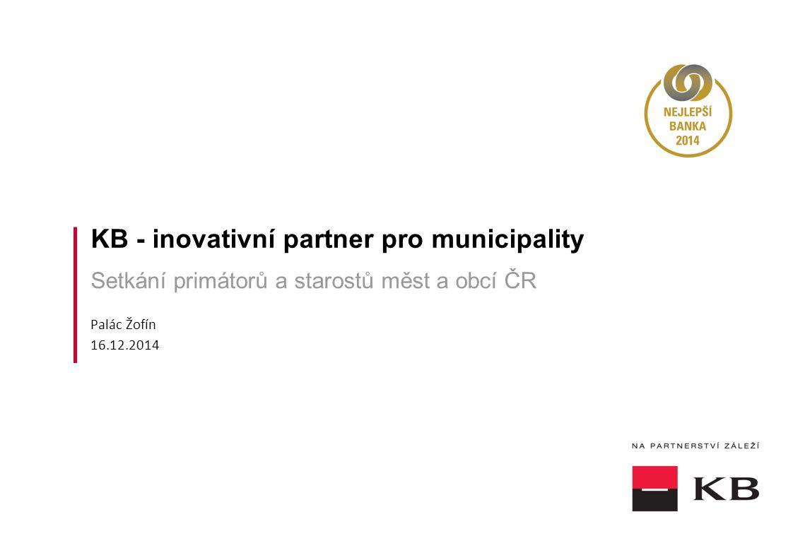 KB - inovativní partner pro municipality
