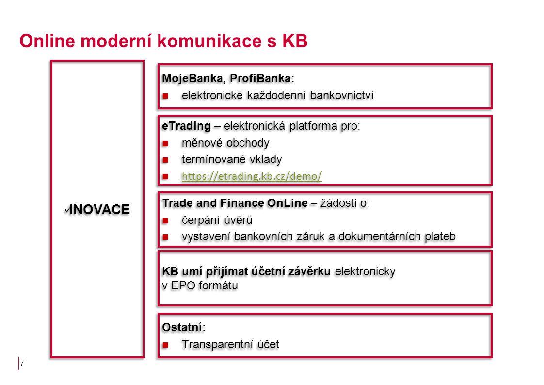 Online moderní komunikace s KB