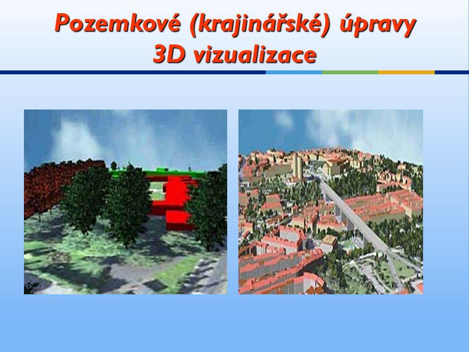 Pozemkové (krajinářské) úpravy 3D vizualizace