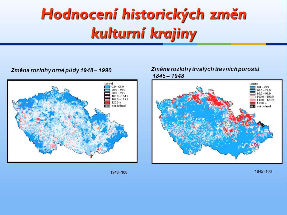 Hodnocení historických změn kulturní krajiny