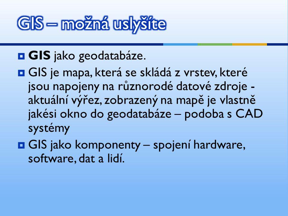 GIS – možná uslyšíte GIS jako geodatabáze.
