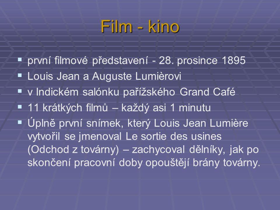 Film - kino první filmové představení - 28. prosince 1895